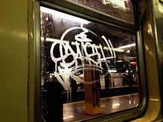 SMASH (S C R A T C H I E S) Tags: nyc subway graffiti smash etch
