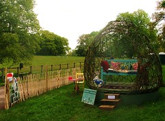 Living willow mobile dome at Bignor fair 2012 (Mark and Rebecca Ford Art Sculpture) Tags: sculpture art mobile garden bench living steps exhibition willow dome land woven cushions parkland bignorpark stevejackman lordmersey bignorfair jeanjackman