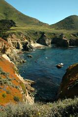 (John 3000) Tags: ocean california ca blue plants green beach nature rock coast pacific natureza bigsur playa hills geology oceanography