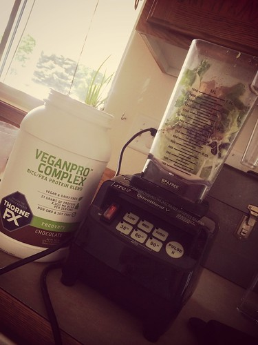 """Kale smoothie with the new http://www.bengreenfieldfitness.com/thornefx vegan protein blend... <a style=""""margin-left:10px; font-size:0.8em;"""" href=""""http://www.flickr.com/photos/118228725@N06/14027569239/"""" target=""""_blank"""">@flickr</a>"""