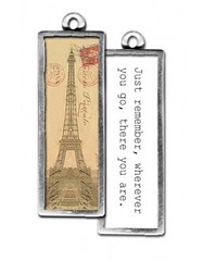 tr054 - sepia eiffel (ToadHollowNJ) Tags: travel charms pickupsticks redbanknj toadhollow photocharms toadhollownjcom
