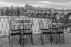 Charles Bridge & Mal Strana, Prague (Stefano Laurita) Tags: prague bridge blackwhite castle nikon panorama praga czech d7000 view bw sigma architecture empty