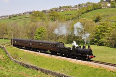 20120522  957 (paulbrankin775) Tags: lyr lancashire yorkshire railway engine steam keighley worth valley 52044 957 ra children locomotive smoke