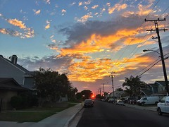 Sunset at the end of the road  (ealon562) Tags: landscape colors skyscape hdr california cityscape streetphotography sunrise sunset iphoneography iphone6plus iphone