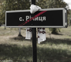Abandoned settlement with scarf (Dave and Jodi Piddington) Tags: chernobyl ukraine holiday decay abandonedbuildings death history nucleardisaster accident travel dark tourism darktourism photography architecture nuclear disasters adventure kiev blackandwhite