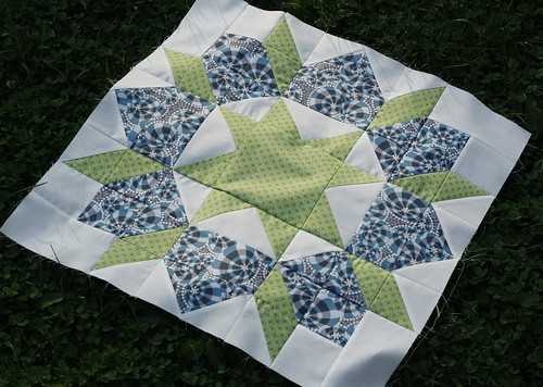 first quilt block for Swoon quilt