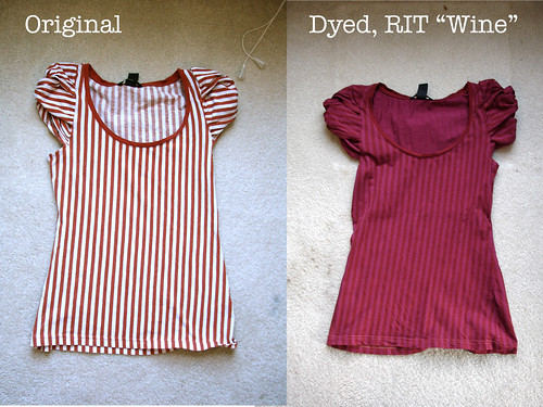 "Dyeing H&M shirt with RIT ""Wine"" liquid dye"