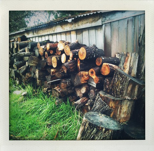 the wood heap at the agrarian kitchen