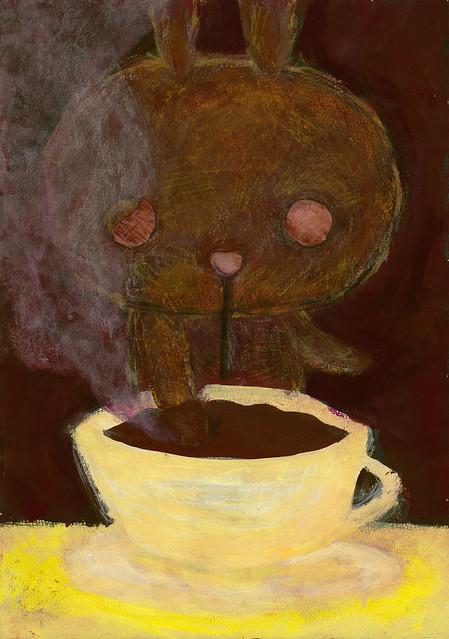 一枚絵_2_こんがりうさぎのコーヒーの香りづけ