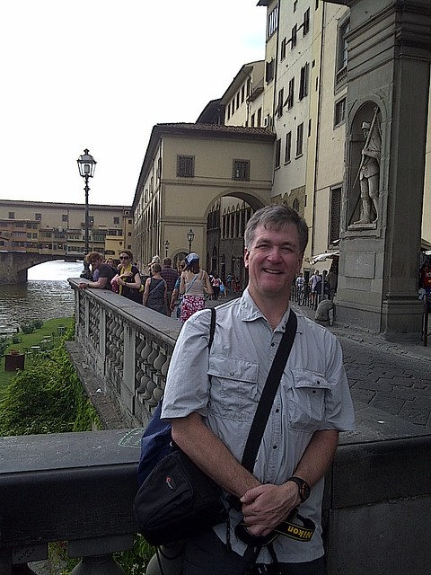 Your blogger in Florence