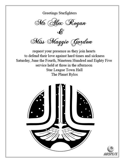 The Last Starfighter Wedding Invite