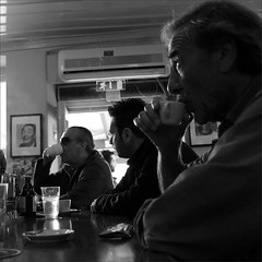 coffee break (Dimitra ) Tags: street people blackandwhite bw streets men coffee square visions cafe squares documentary indoor social monochromatic indoors vision squarecrop socialdocumentary indoorstreet documentar monochromaticvisions indoorstreetshooting