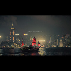 (jim_213) Tags: city light sky cloud night buildings hongkong boat ship sony victoriaharbour a55 sal1680z
