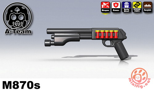Custom minifig SWAT-M870s