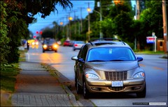 The Hood (Clayton Perry Photoworks) Tags: street summer car vancouver bokeh dusk richmond ptcruiser hdr