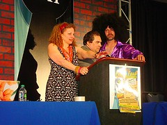 From J. Valenza's Flickr stream--Joyce, Steve Dembo, and Chad Lehman
