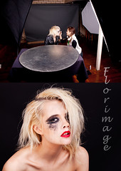 Messed up in the studio (shonkathan) Tags: beauty up model amy messed paige australia brisbane freak blonde bones lipstick behind collar scenes particulart