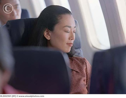 """Kathy"" Sleeping on Plane"
