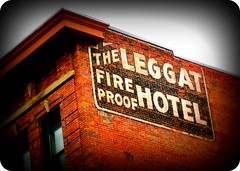Fire Proof Hotel (BlackAndBlueBeauty) Tags: brick fire hotel montana butte advertisement uptown proof leggat