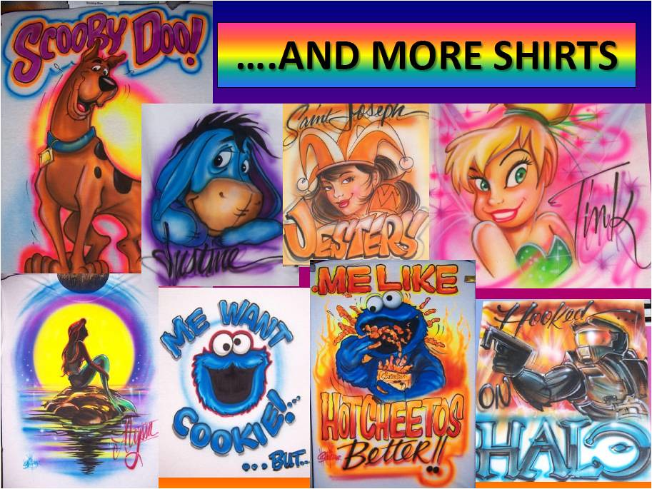 AIRBRUSH ALLEY T Shirts