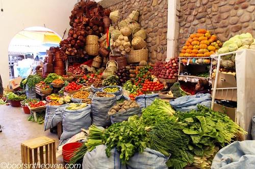 Veggies and baskets
