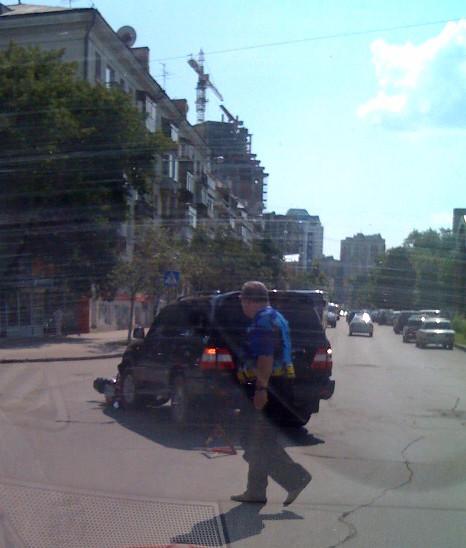Задавили мотоциклиста