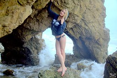 Swimsuit Bikini Model Goddess (45SURF Hero's Odyssey Mythology Landscapes & Godde) Tags: ocean sea hot beach beautiful pretty pacific modeling models cave swimsuits bikinis