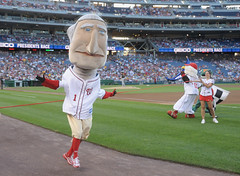 George Washington takes the presidents race
