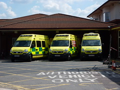 Authorised vehicles only (lydia_shiningbrightly) Tags: hospital ambulance nhs vehicle emergency warwick