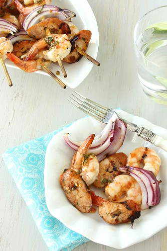 Grilled-Shrimp-&-Sausage-Skewers-with-Apricot-Chile-Glaze-Recipe-Rosle-Giveaway