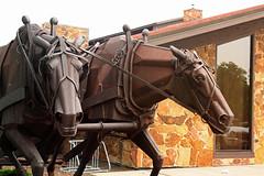 Horse Power (Calsidyrose) Tags: horses industry wisconsin drag forestry timber logging greenbay worker sawyer skid proletariat skidder montanaartist lyndonfaynepomeroy