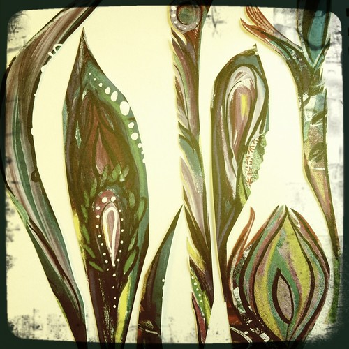 feathers...working on my digital art journaling kits