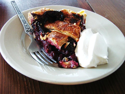 Blueberry Rhubarb Pie from Four and Twenty Blackbirds