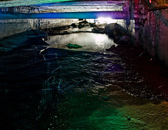 crow crawl (MM ©) Tags: blue red lightpainting green wet river underground daylight stream spiders pipes dirty burn solo rgb crawling tyneside webs stinking culvert urbanexploring urbex lowlevel