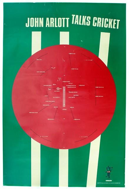 Barney Bubbles poster for John Arlott spoken word LP, 1982.