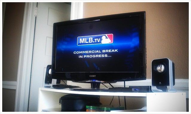 MLB.TV streaming through my Roku box.