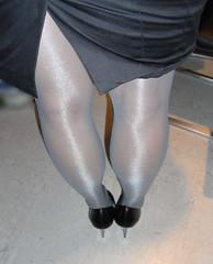 RIMG0021 (nylongrrl) Tags: blue shiny highheels arch shine legs panty tights glossy heels gloss heel satin ph ankle pantyhose nylon nylons collant 6inch orublu