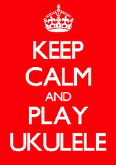 keep calm and play ukulele