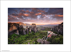 Dawn at Meteora (Ian Bramham) Tags: mountains sunrise landscape photo greece monastery meteora ianbramham