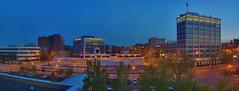 Sioux Falls Downtown Twilight (Mercenaryhawk) Tags: city panorama holiday 3 canon eos spring inn downtown cityscape floor mark south iii falls 5d scape 5th dakota hdr sioux