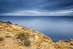 (Antonio Carrillo (Ancalop)) Tags: sea sky espaa seascape water clouds marina canon mar spain agua rocks europa europe long exposure ray mark paisaje murcia daryl filter le ii cielo nubes l 5d reverse lopez antonio benson almeria 1740mm f4 lanscape carrillo cala rocas exposicion larga singh hoya aguilas nd400 gnd 3stop cocedores ancalop