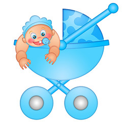 Baby Boy in Stroller (JPLDesignsPDX) Tags: blue boy baby white cute smiling illustration happy kid child carriage heart drawing stroller background cartoon mother son newborn bonnet isolated pacifier pram active