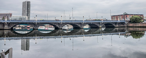 Queens Bridge is a bridge in Belfast, Northern Ireland. It is one of eight bridges in the city