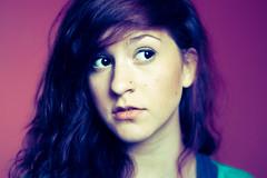 (Julianna Abegglen) Tags: blue girl hair gap makeup piercing curly nosering nosepiercing