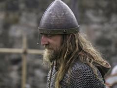 Reflective Viking (No9 (Tony)) Tags: island helmet holy northumberland monks vikings swords armour reenactment lindisfarne chainmail farnes