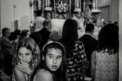 Comunin. (jcof) Tags: girls portrait bw blancoynegro church sevilla retrato interior iglesia bn looks inside hugo nias 2014 miradas comunin espartinas comunionhugo