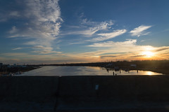 Wilmington Sunset (greenteaonsens) Tags: bridge winter sunset tree water rural landscape nikon driving northcarolina wilmington d600 johnlatorre