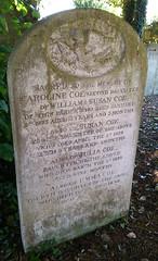 Coe family headstone