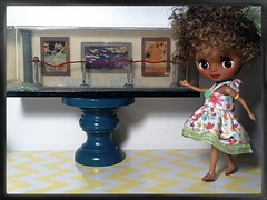 Blythe-a-Day July 2014 #3: Art Work: Lola and the Paintings