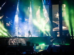 Metallica on Stage (Digikuvaaja) Tags: show light party people music wet silhouette festival rock club night fun dance drops concert audience live stage smoke crowd performance band pop celebration event entertainment sound metallica nightlife perform excitement act volume sonisphere